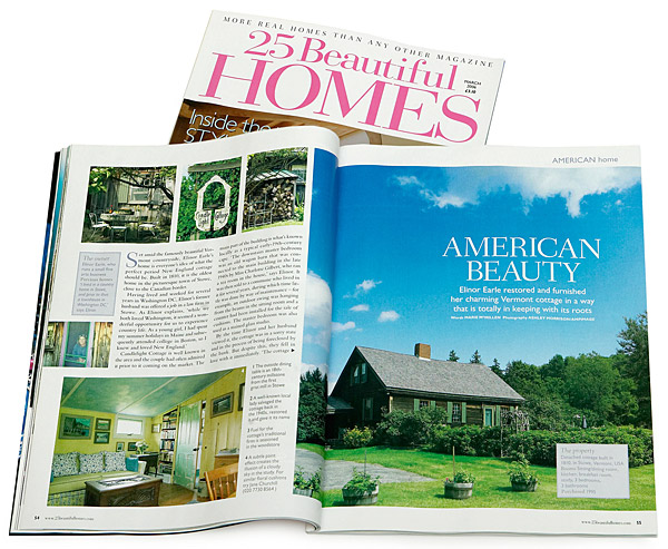 March 2006 issue of 25 Beautiful Homes magazine