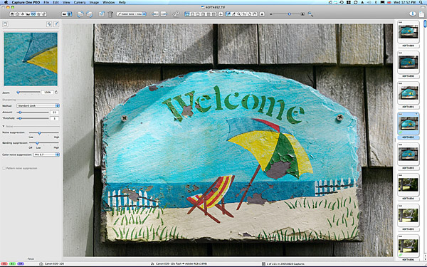 Welcome sign outside Gene & Rosemary's cottage in the Cape Cod town of Chatham