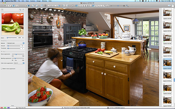 Marie settin up the kitchen shot in Gene & Rosemary's cottage in the Cape Cod town of Chatham