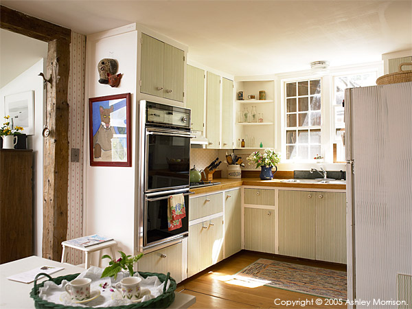 Kitchen in Elinor Earle's Candle Light cottage in the Vermont town of Stowe