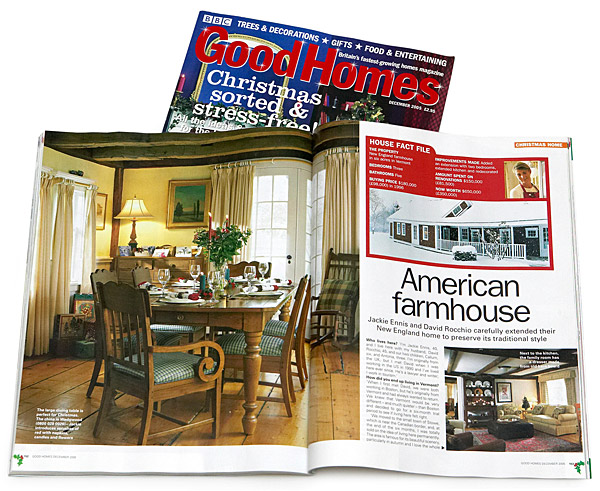 December 2005 issue of BBC Good Homes magazine.