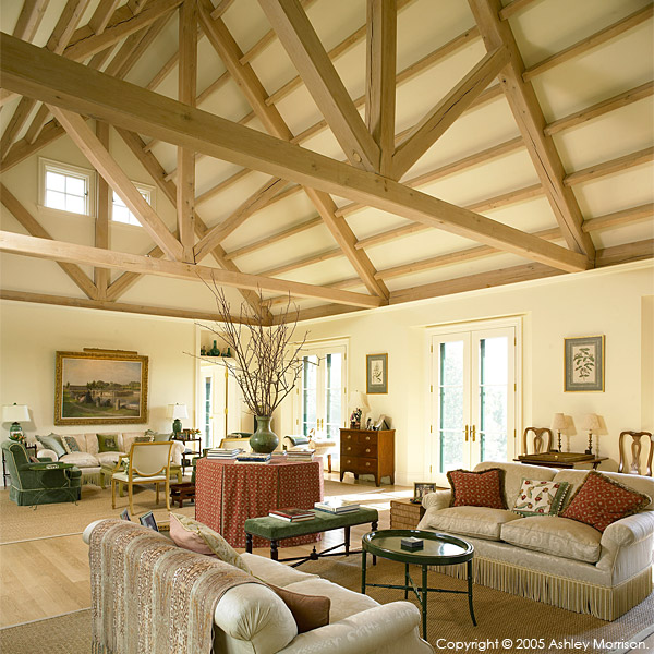 the Grand Room in Barbara & Mark Leswing's Hidden Valley Farm in Vermont.