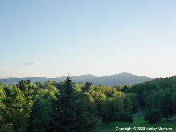 View from Barbara & Mark Leswing's Hidden Valley Farm in Vermont.