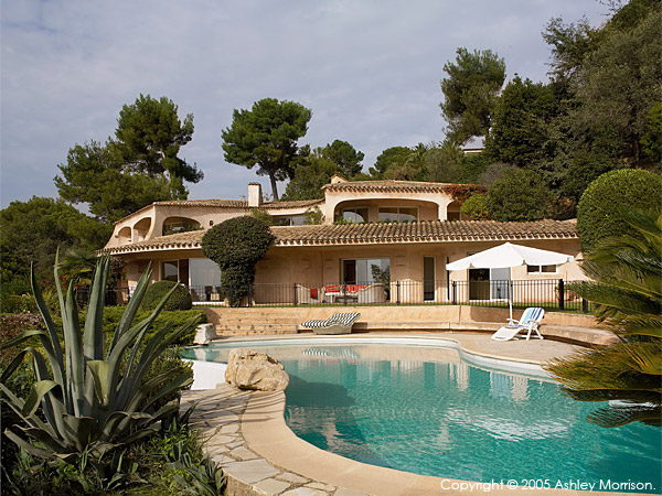 Duncan Bannatyne's French Riviera villa which overlooks the city of Cannes.