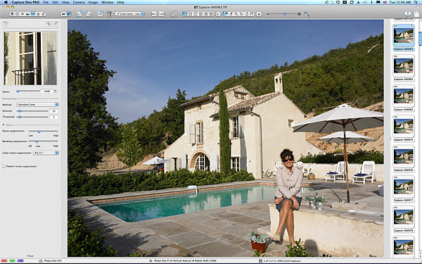 Marie McMillen sitting outside Bradley Viljoen's hillside villa located in the Tarn region of France.