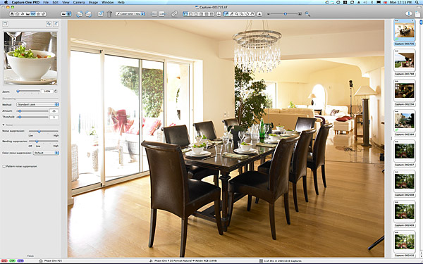 Setting up the dining room shot in Duncan Bannatyne's French Riviera villa.