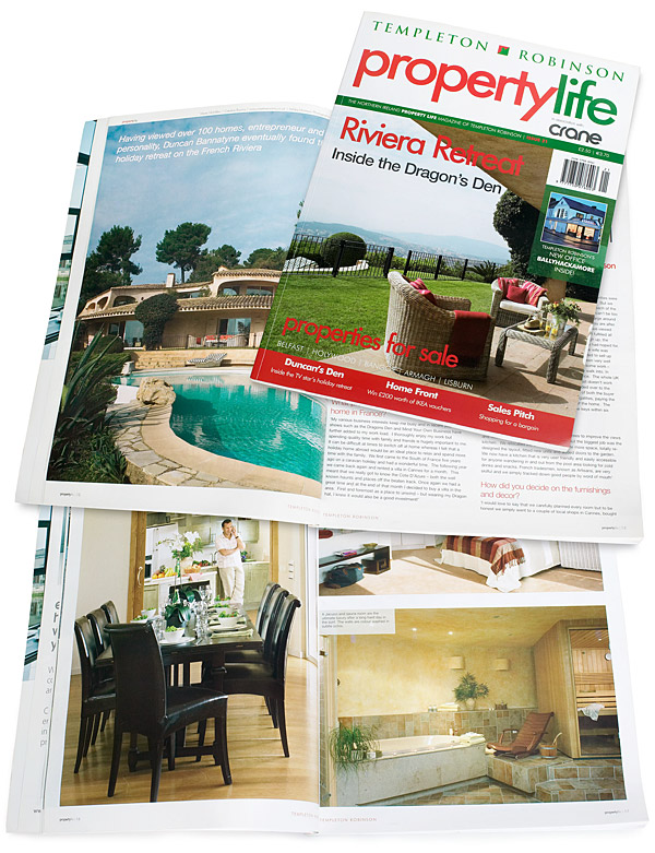 Pages 12 to 18 plus the cover of Issue 21 of Property Life magazine.
