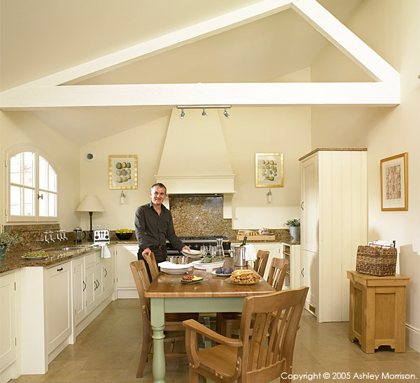 Bradley Viljoen in the kitchen of his hillside villa located in the Tarn region of France.