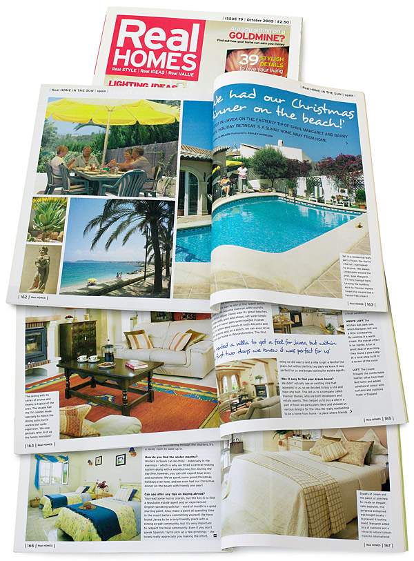 Pages 162 to 167 in the October 2005 issue of Real Homes magazine.