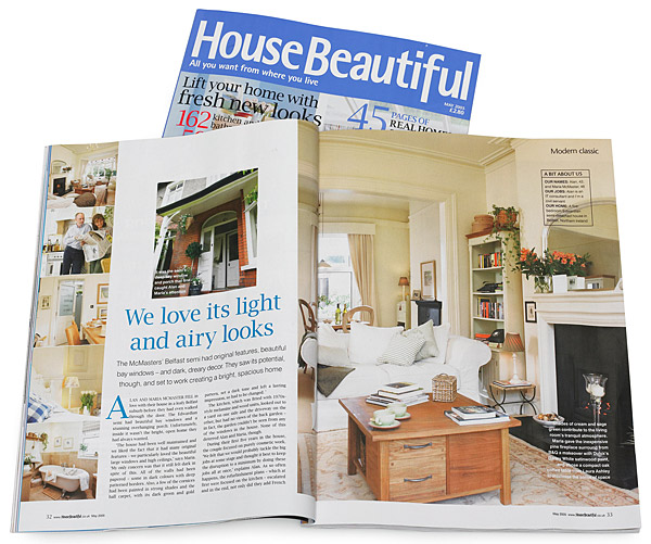 Pages 32 to 36 in the May 2005 issue of House Beautiful magazine.