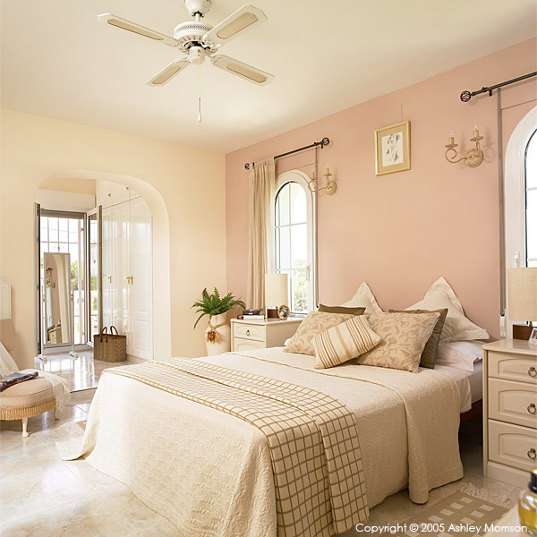 Master bedroom in Margaret & Barry Harris' villa located in Javea on the most Easterly tip of Spain.