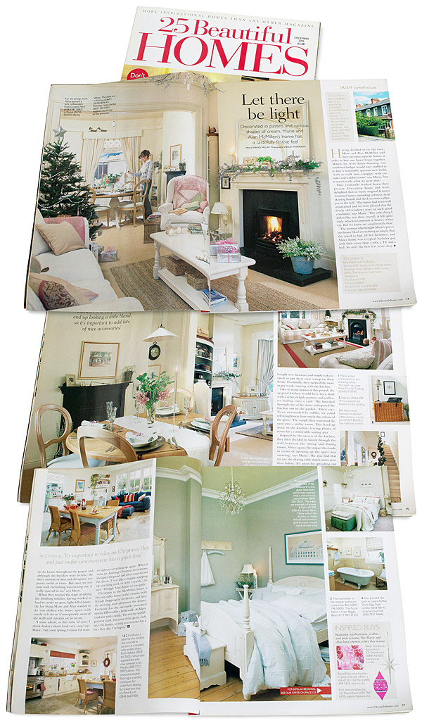 Pages 12 to 17 in the December 2006 issue of 25 Beautiful Homes magazine.