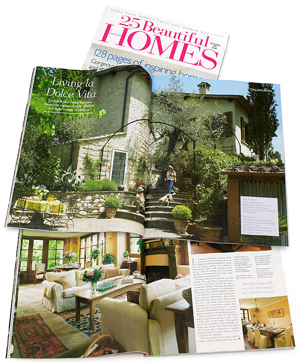 September 2006 issue of 25 Beautiful Homes magazine.