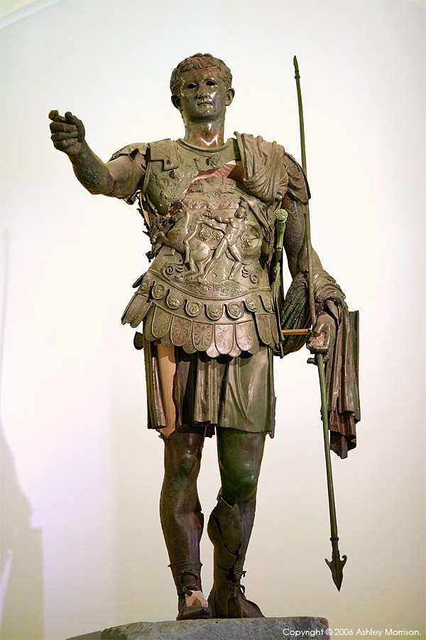 The Statue of Germanico in the Archaeological Museum of Amelia in the Umbria region of Italy.