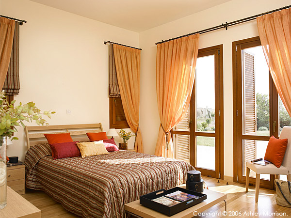 Guest bedroom at Villa Thalia at Aphrodite Hills near Paphos in Cyprus.