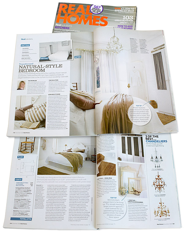 Pages 136 to 139 in the November 2008 issue of Real Homes magazine.
