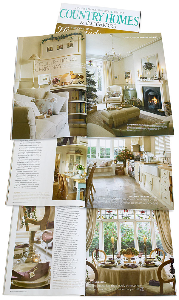 Pages 32 to 38 in the January 2009 issue of Country Homes & Interiors magazine.