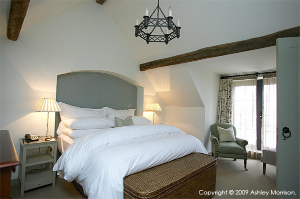 Bedroom in one of the Courtyard cottages at Doonbeg Golf & Spa Resort
