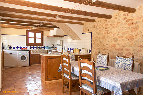 Kitchen inside Spanish finca located near Javea.