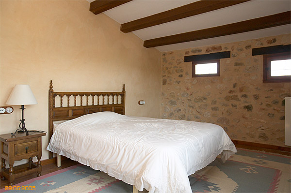 Bedroom inside Spanish finca located near Javea.