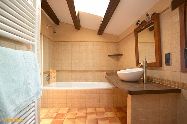 Bathroom inside Spanish finca located near Javea.