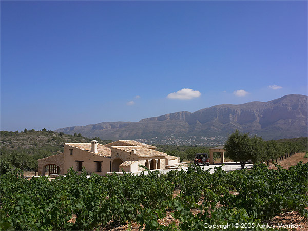 Black's Spanish finca located near Javea on the Costa Blanca.