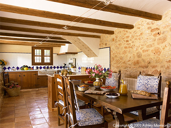 the kitchen in Black's Spanish finca located near Javea on the Costa Blanca.