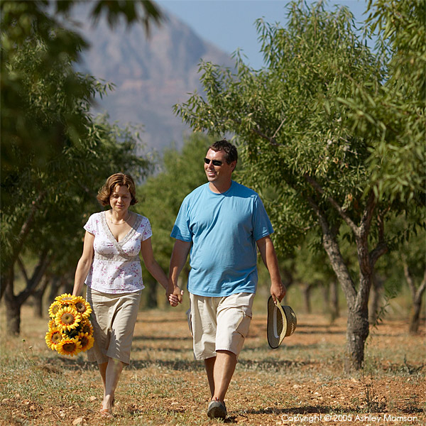 Christine & David Black outside their Spanish finca located in Javea on the Costa Blanca.
