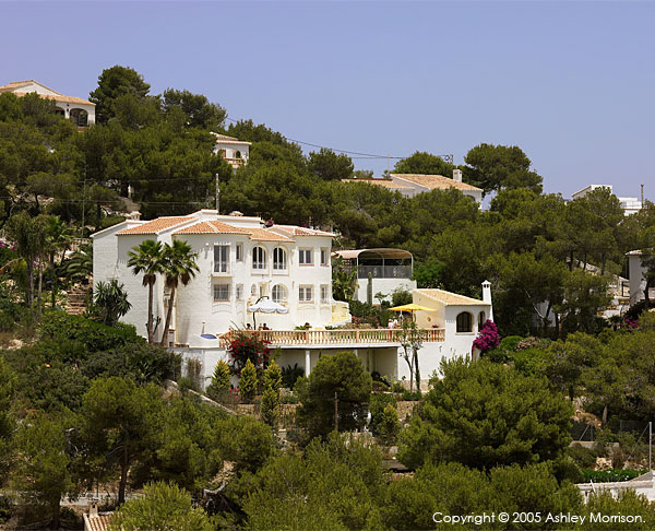 Brian McHardy's villa located in Javea on the Costa Blanca in Spain.