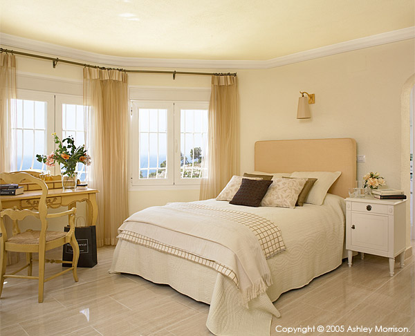 Bedroom in Brian McHardy's villa located in Javea on the Costa Blanca in Spain.