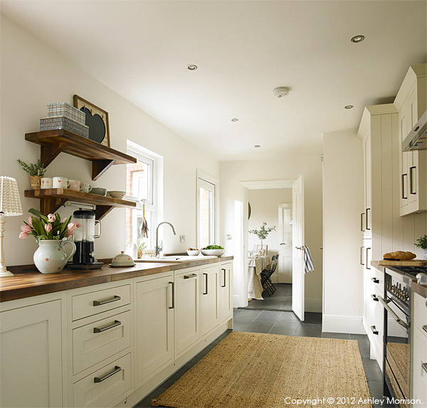 The kitchen in Ciara Nelson's three storey semi-detached villa in Belfast.