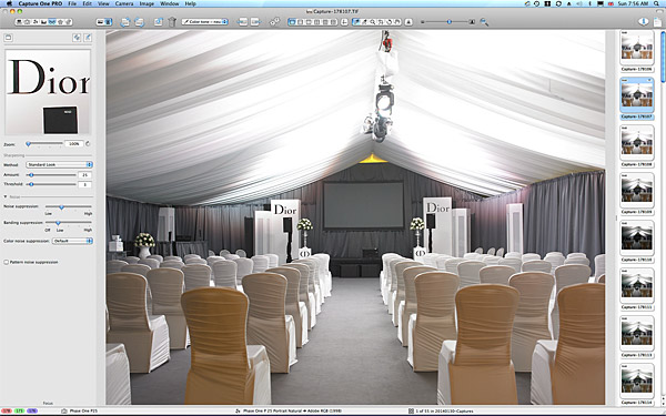 Setting up in the marquee at the Lodge at Doonbeg.