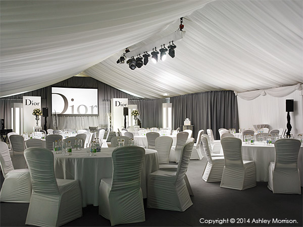 The marquee at the Lodge at Doonbeg in County Clare.