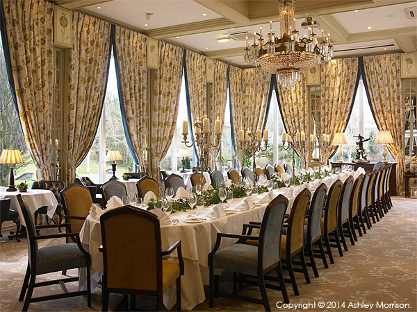 The Terrace Room at Dromoland Castle in County Clare.