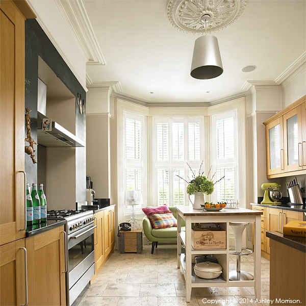 The kitchen in Kelly Ann & Dominic's Victorian townhouse in Belfast.