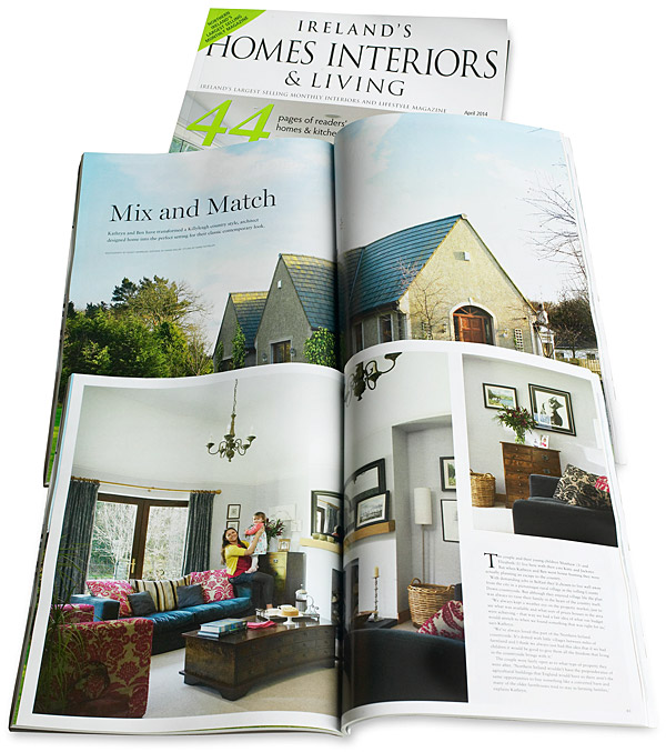 April 2014 issue of Ireland's Homes Interiors & Living magazine.