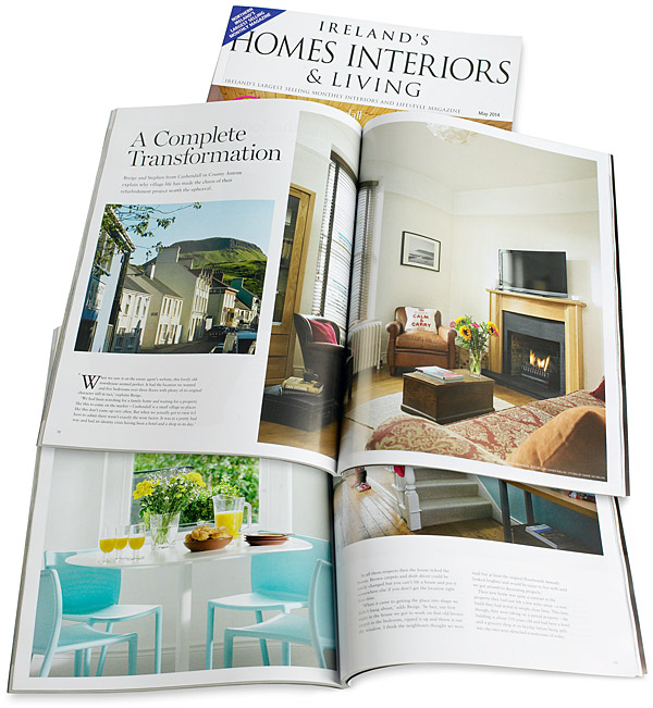 May 2014 issue of Ireland's Homes Interiors & Living magazine.