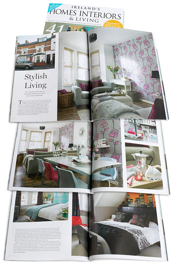 July 2014 issue of Ireland's Homes Interiors & Living magazine.