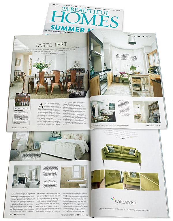 25 Beautiful Homes magazine August 2014