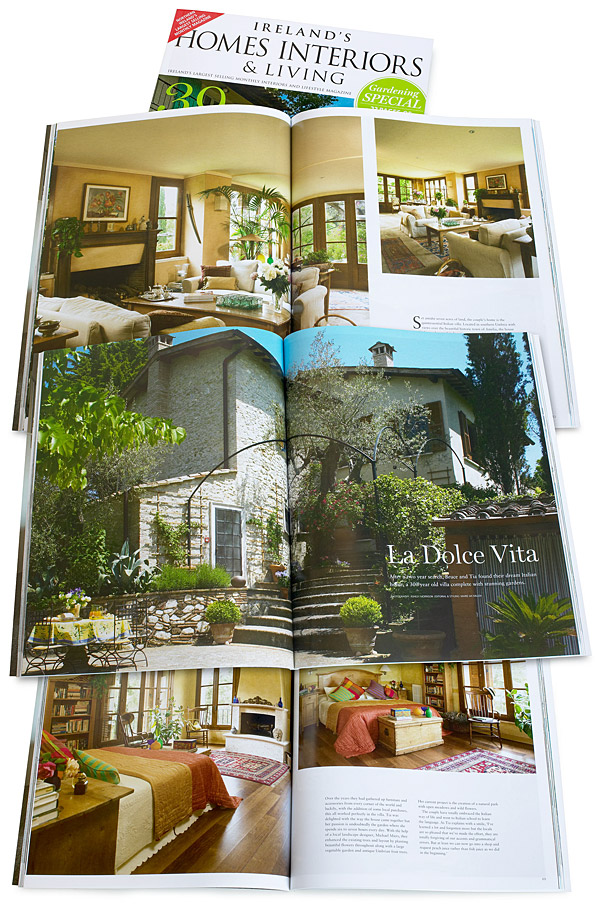 La Dolce Vita - Pages 58 to 71 of the August 2014 issue of Ireland's Homes Interiors & Living magazine.