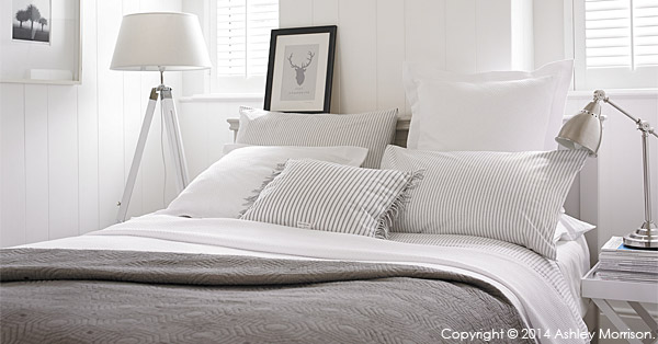 Bed linen and cushions.