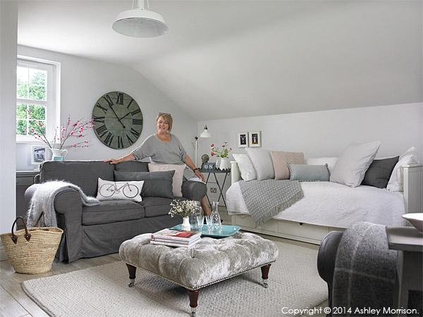 Donna Wilson in the guest room above her garage near Greenisland in County Antrim.