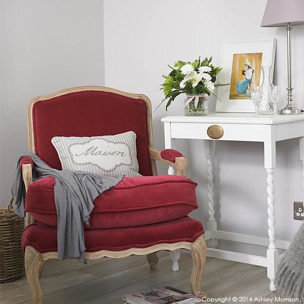 Chair in Donna Wilson's guest room above her garage near Greenisland in County Antrim.