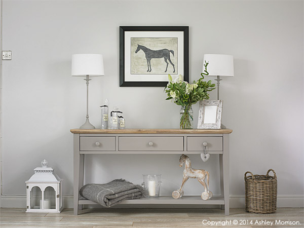 Side table in Donna Wilson's guest room above her garage near Greenisland in County Antrim.