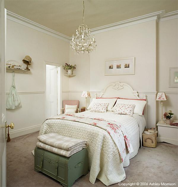 Bedroom in Marie & Alan McMillen's home in Belfast.