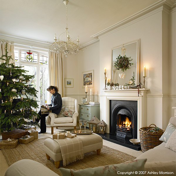 Marie McMillen in the sitting room of her home in Belfast at Christmas time.