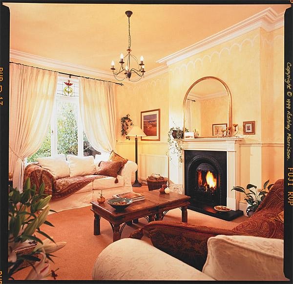 The sitting room in Marie & Alan McMillen's home in Belfast.