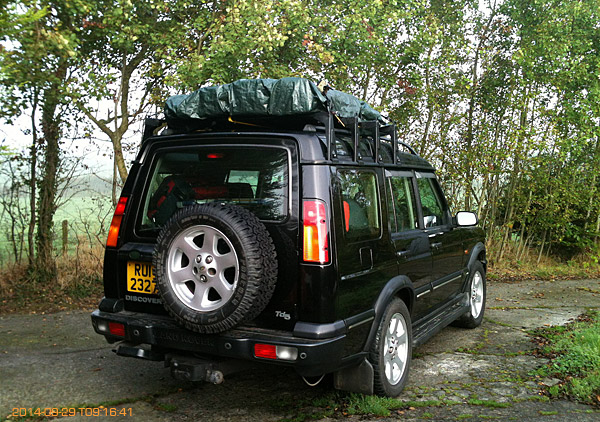 Land Rover loaded up