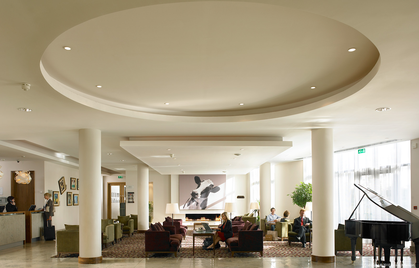 The Lobby in the CityNorth Hotel near the Irish town of Gormanston in County Meath.