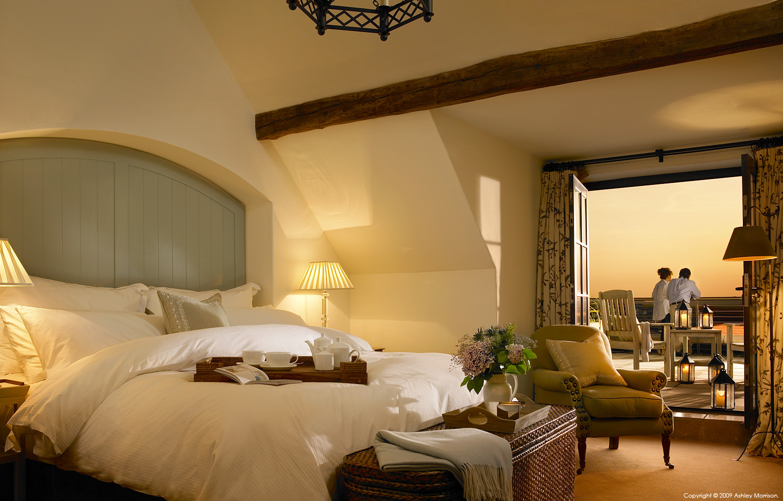 One of the courtyard bedroom suites at the Trump International Golf Links & Hotel in County Clare by Ashley Morrison.